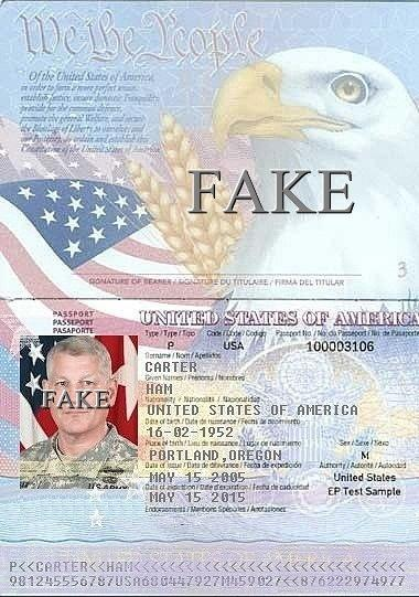 Fake Passport Gen. Carter Ham (Retired) abused by Scammers