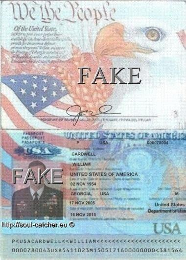 Fake Passport with stolen image from Lt. Gen. William B. Caldwell (Retired) abused by Scammers