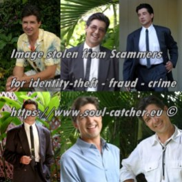 Model James Bill images abused by Scammers