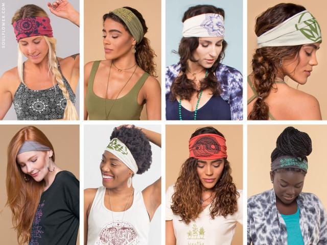 how to wear a thick headband: boho headbands