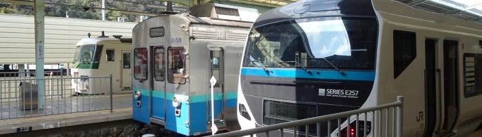 JR東日本のE257系と185系と伊豆急