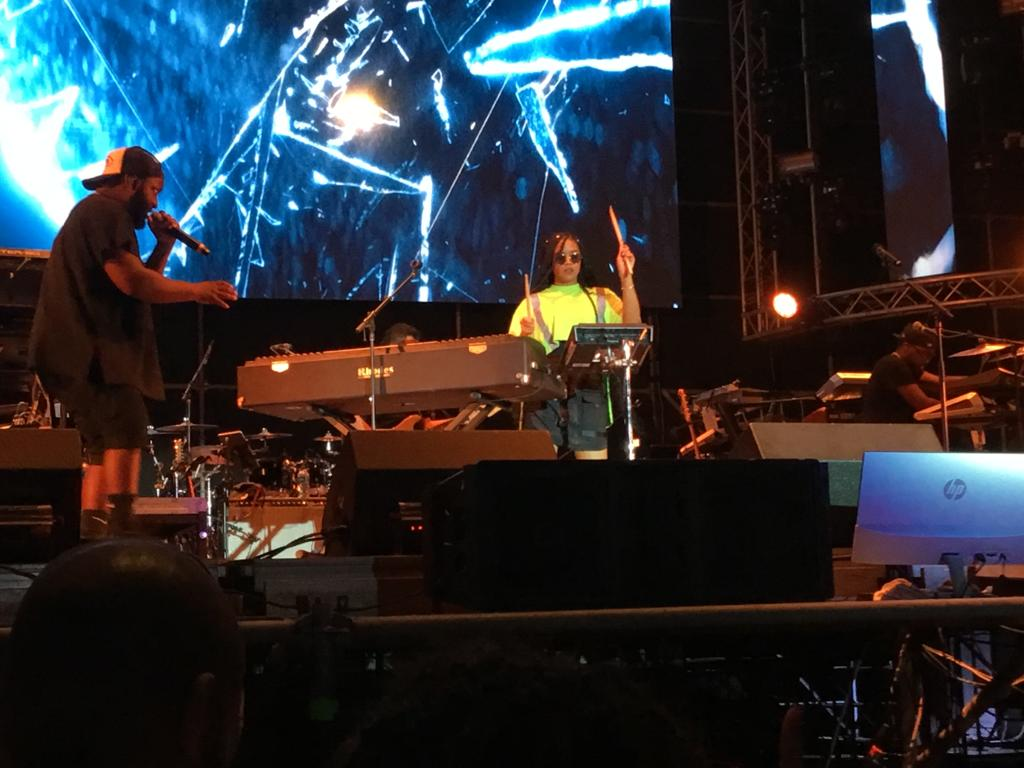 H.E.R. at the Soul Beach Music Festival