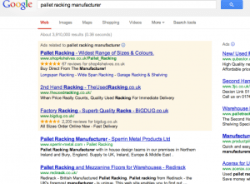 Screenshot of Sperrin Metals' No 1 position on Google.co.uk's search results