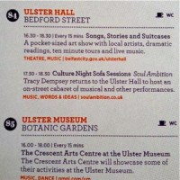 Screenshot of the Culture Night Belfast programme entry for the Sofa Sessions