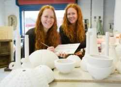 Twins Claire and Karen Gibson who'll be showing and talking about some of their sculpture at Sofa Sessions #8