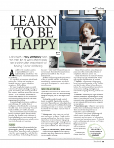 Tracy Dempsey Wellbeing Column Sunday Mirror - Week 4 Hobbies and Learning