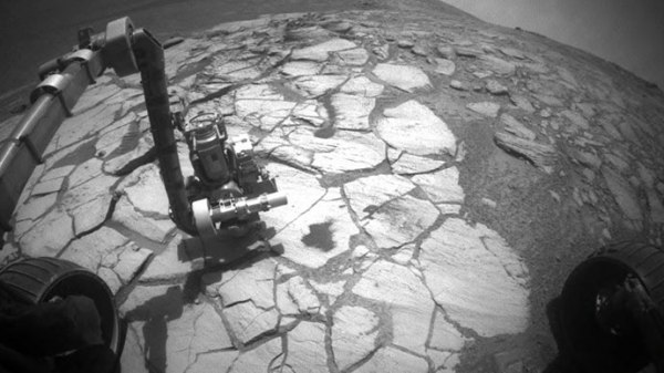 Mysterious rock appears near Mars rover Opportunity