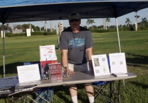 the 5k zombie run author booth