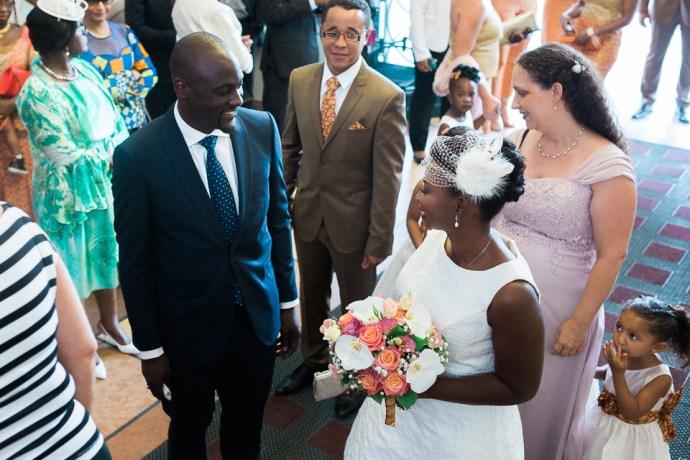 mariage mairie de montreuil mariage africain chic theme wax orange or photographe soulbliss seine saint denis 93
