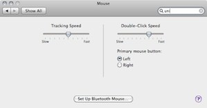 Mouse options for OSX