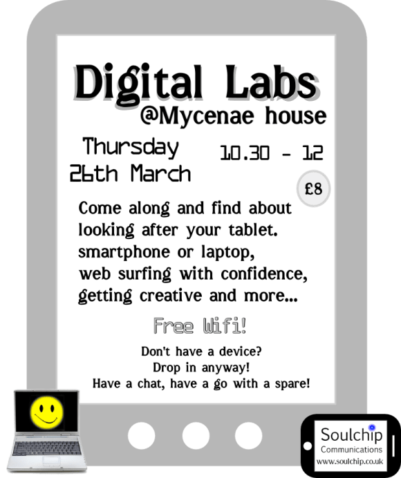 Poster for March 2015 laptop lab