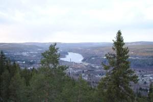 Ångermanälven från hoppkacken i Sollefteå