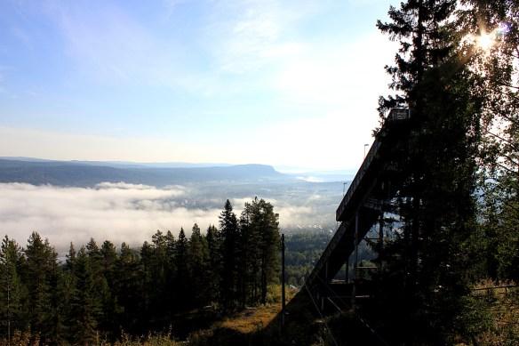 Dimma över Ådalen settt från Hallstaberget