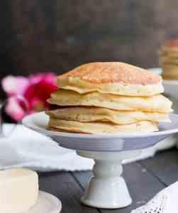 fluffy buttermilk pancakes for breakfast