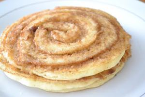 cinnamon pancake roll for breakfast