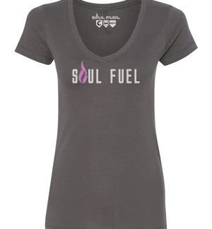 Soul Fuel V-Neck with Flame on Back