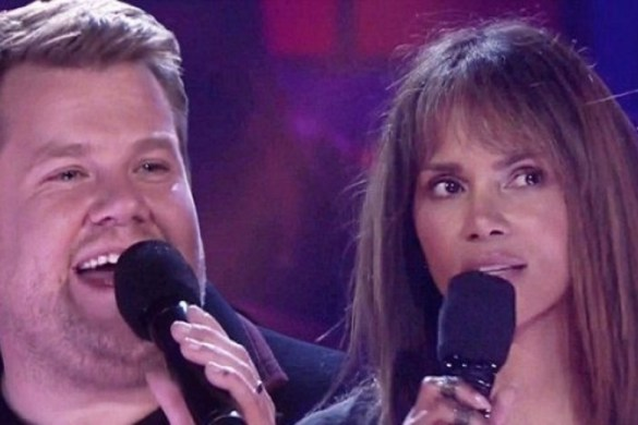 Halle Berry and James Corden Battle on Drop the Mic