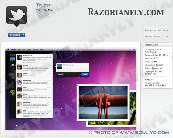 Twitter For Mac ກຳລັງຈະມາ ພ້ອມກັບ Mac App Store