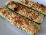 Baked Zucchini with Parmesan Crunch