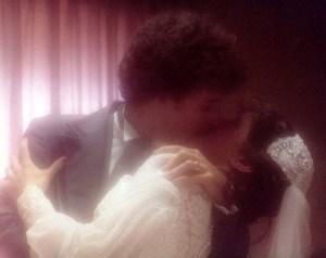 Lr and SR wedding kiss