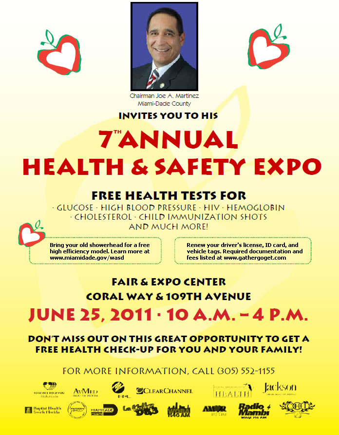 Chairman Joe A  Martinez 7th Annual Health and Safety Expo 6
