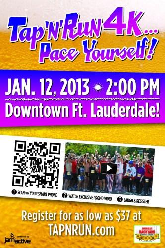 2012 Tap N Run Ft Lauderdale Handbill