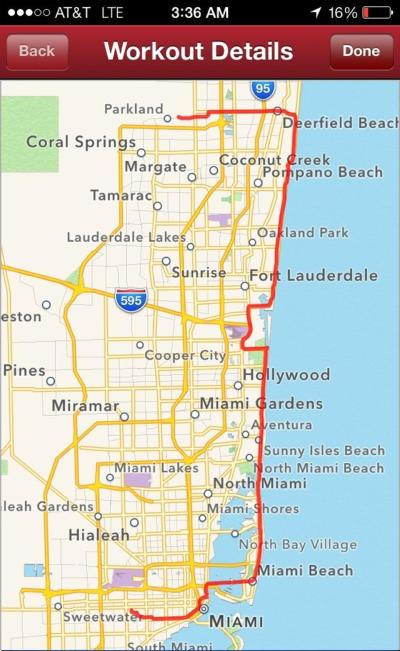 The final route on A1A