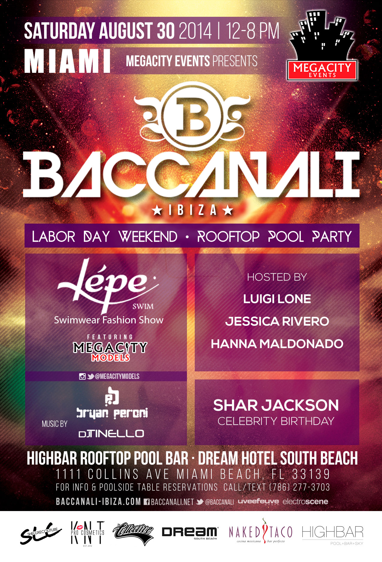 Baccanali Miami Labor Day Weekend Pool Party 8 30 14 The Soul Of Miami