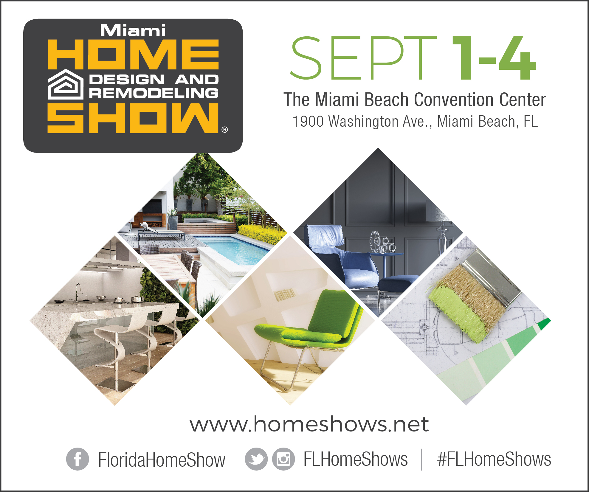 Miami Home Design and Remodeling Show 9/1/17, 9/2/17, 9/3/17, 9/4/17 ...