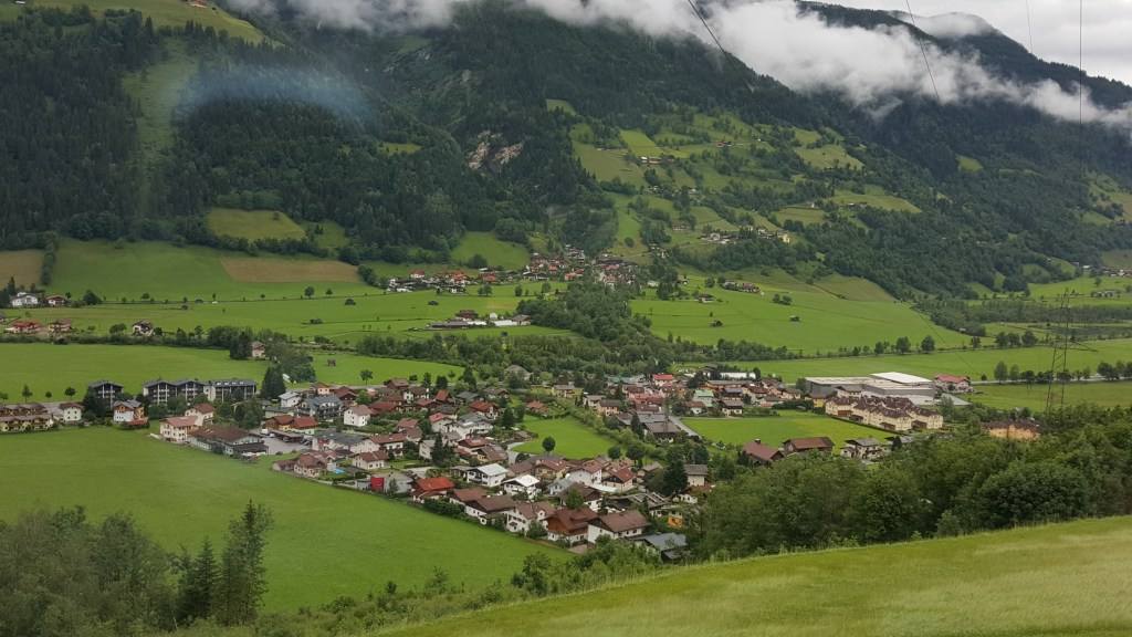 Valley in Austria from the Train