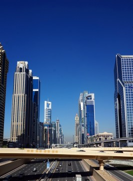 Sheikh Zayed Road in the daytime