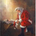 Santa-kneeling-before-Jesus-Christ