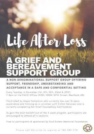 Life After Loss - A Grief & Bereavement Support Group - Soul Sisters ...