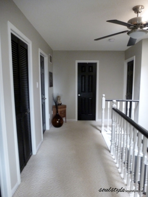 Upper Hall Black Interior Doors (2)
