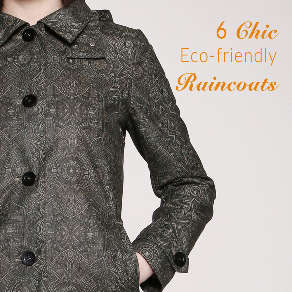 Eco-friendly raincoats for women