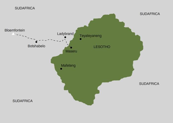 mappa lesotho