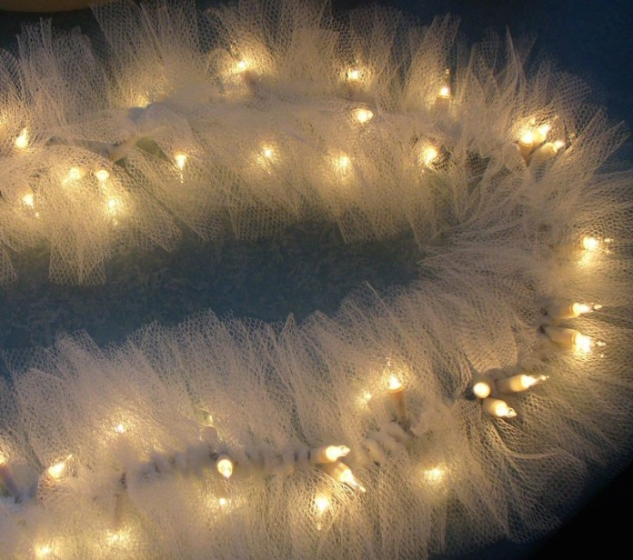 decoração-festa-infantil-luzes-tule