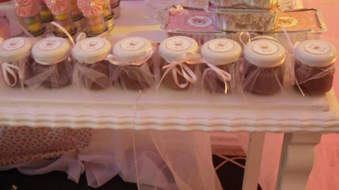 decoração-festa-infantil-potinhos-tule