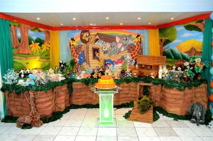 festa-infantil-arca-de-noé-verde