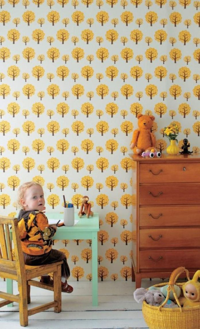 papel-de-parede-quarto-infantil-arvores-amarelas