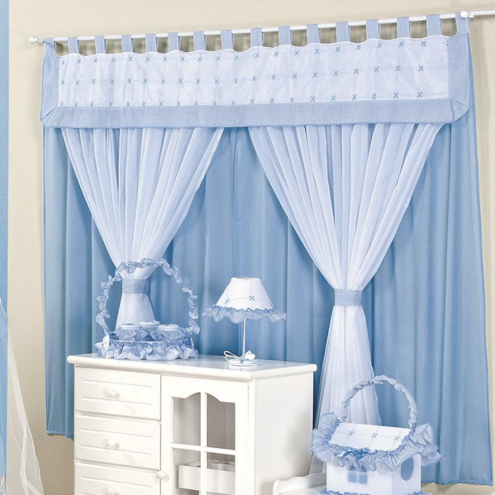28 ideias de cortinas para quarto de beb s - Modelos de cortinas infantiles ...