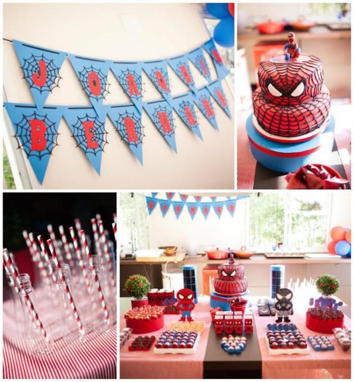 festa-infantil-homem-aranha-decoração