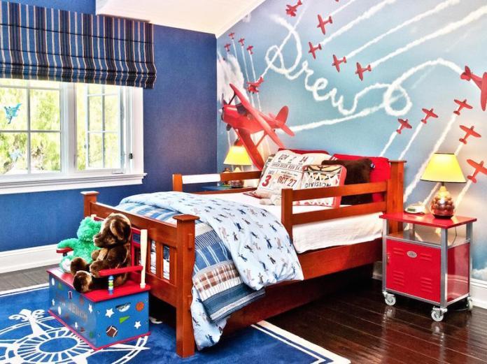 quarto-infantil-aviões-papel-de-parede