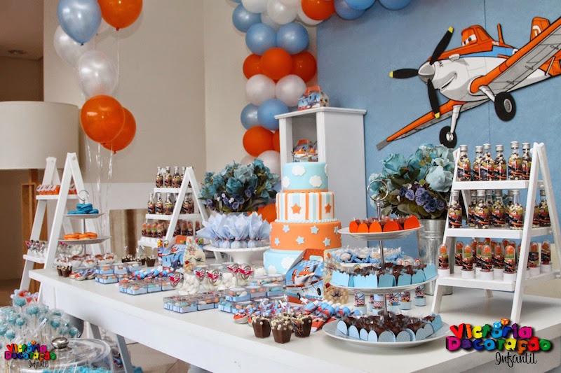 festa-aviões-mesa-decorada