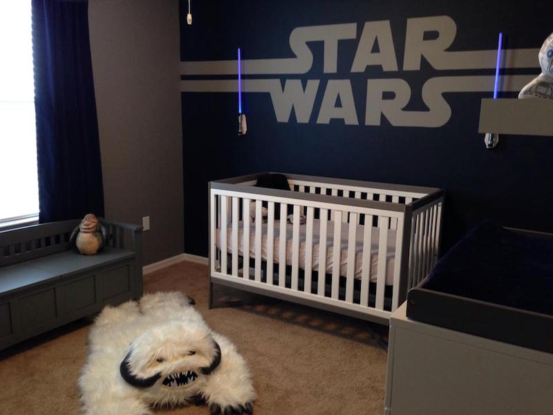 quarto star wars para beb s e crian as. Black Bedroom Furniture Sets. Home Design Ideas