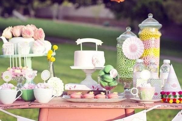 festa infantil primavera colorida mesa completa