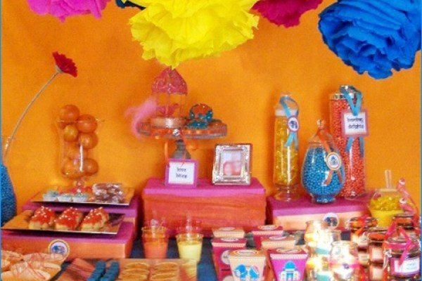 festa infantil primavera india mesa completa