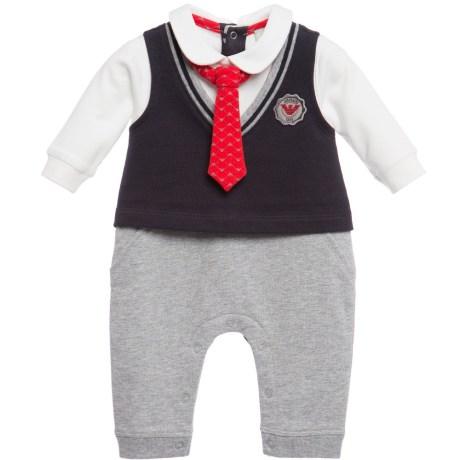 bebê boutique macacão com gravata armani