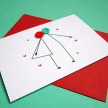 cartão de aniversário caseiro botões