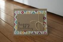 cartão de aniversário caseiro reciclado